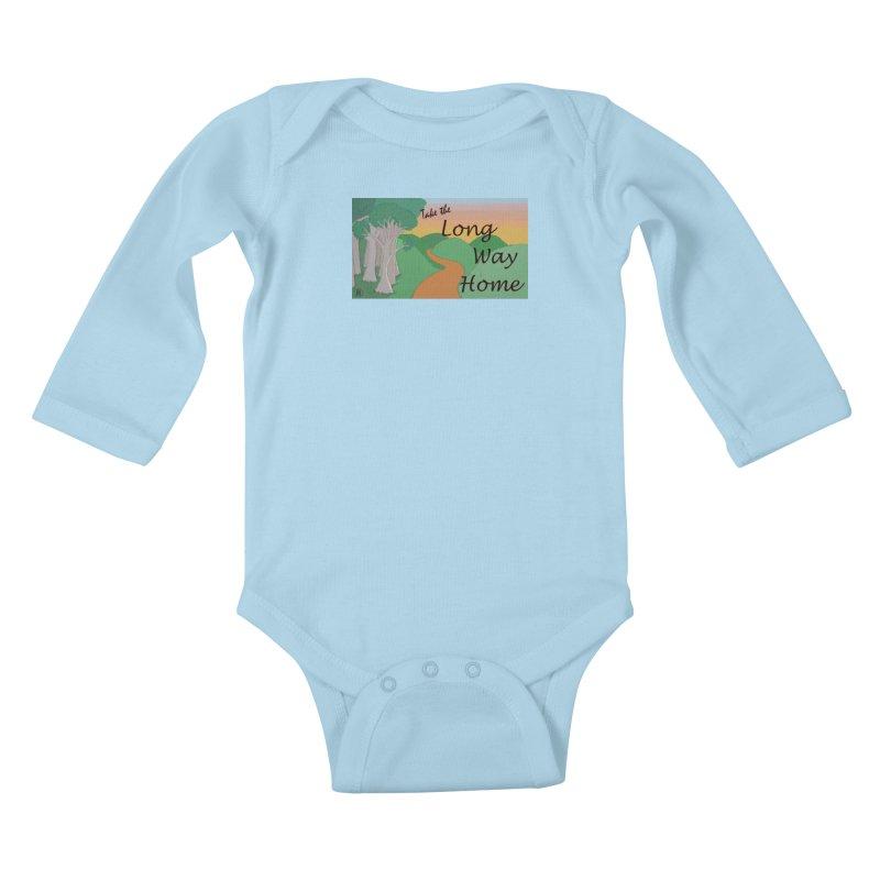 Take the Long Way Home Kids Baby Longsleeve Bodysuit by wchwriter's Artist Shop