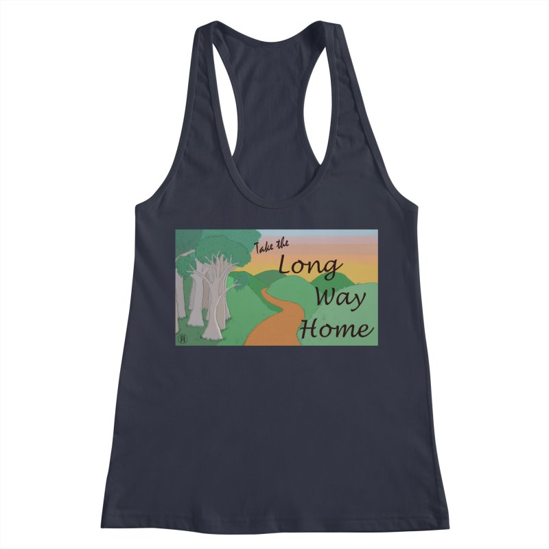 Take the Long Way Home Women's Racerback Tank by wchwriter's Artist Shop