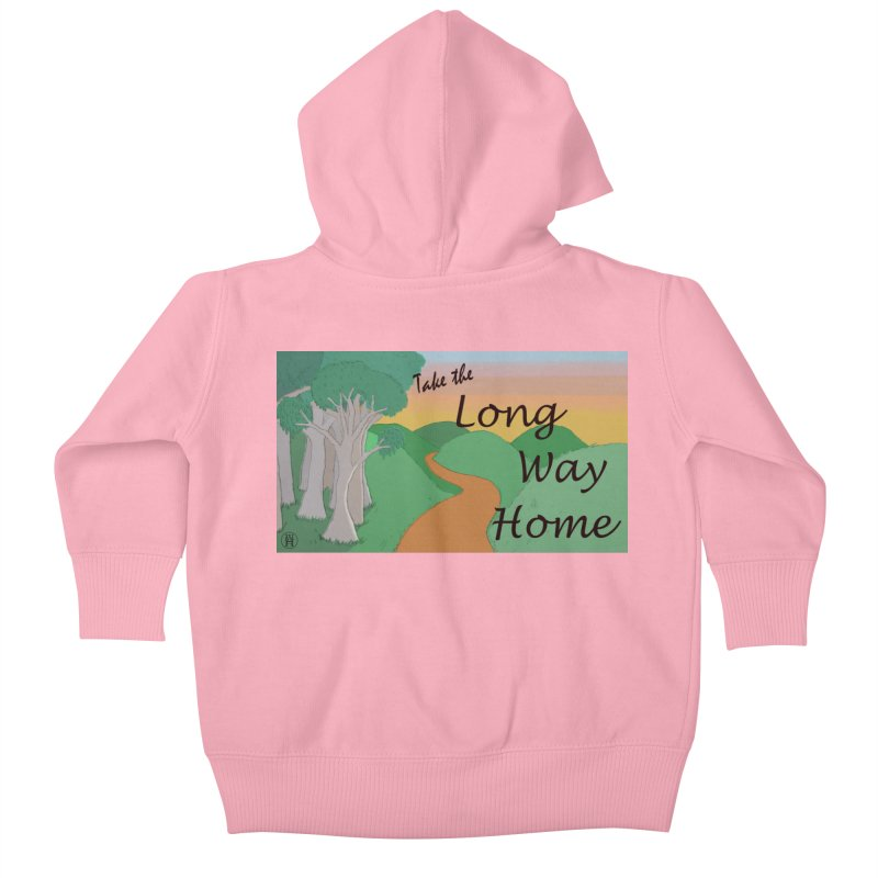 Take the Long Way Home Kids Baby Zip-Up Hoody by wchwriter's Artist Shop