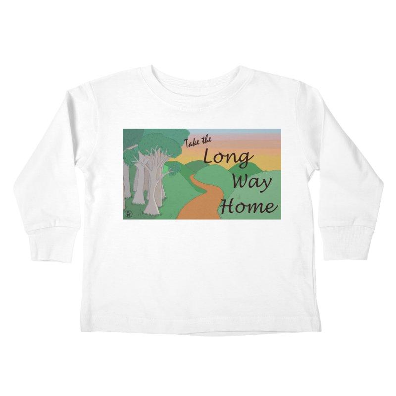Take the Long Way Home Kids Toddler Longsleeve T-Shirt by wchwriter's Artist Shop