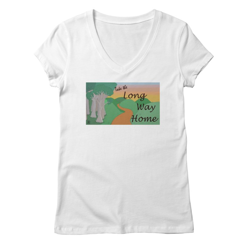 Take the Long Way Home Women's Regular V-Neck by wchwriter's Artist Shop