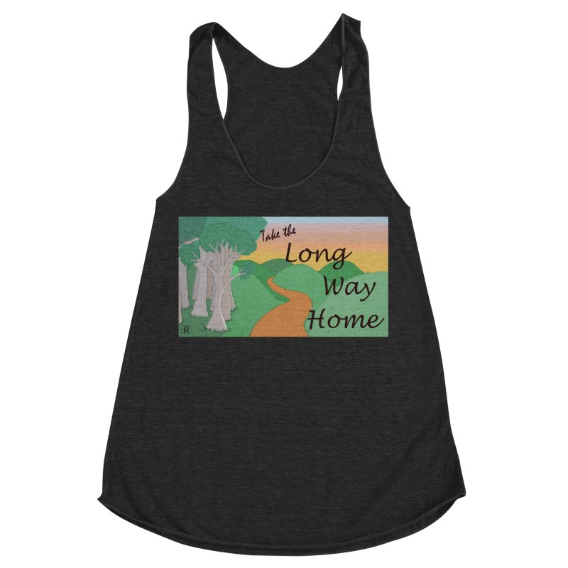 Take the Long Way Home Women's Racerback Triblend Tank by wchwriter's Artist Shop