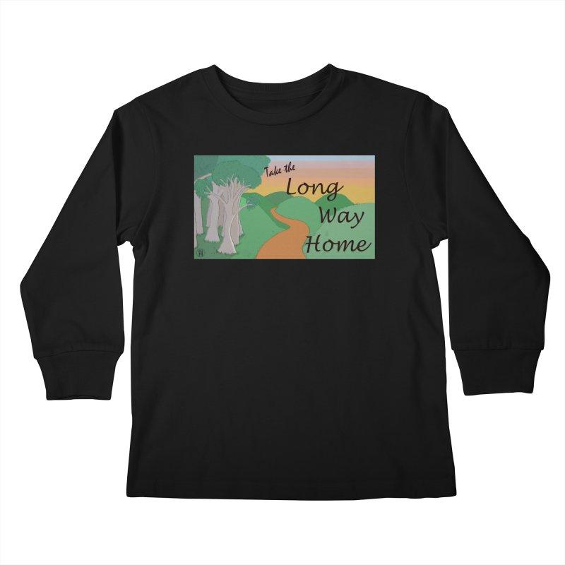 Take the Long Way Home Kids Longsleeve T-Shirt by wchwriter's Artist Shop