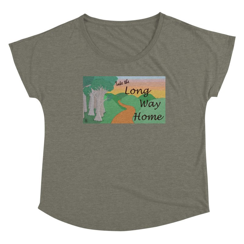 Take the Long Way Home Women's Scoop Neck by wchwriter's Artist Shop