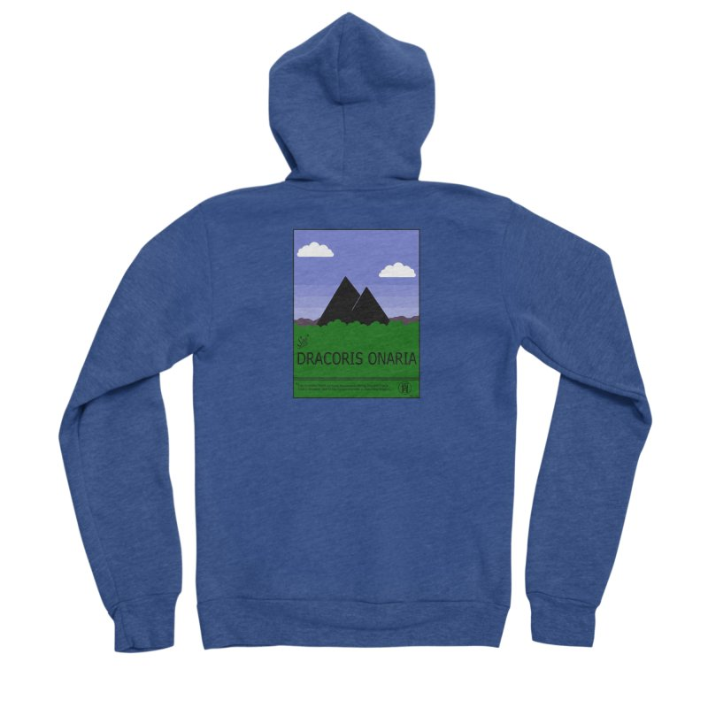 Travel Poster: Dracoris Onaria Men's Sponge Fleece Zip-Up Hoody by wchwriter's Artist Shop
