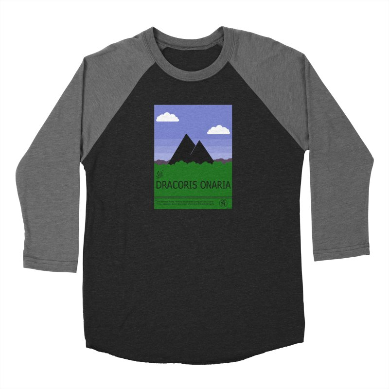 Travel Poster: Dracoris Onaria Women's Baseball Triblend Longsleeve T-Shirt by wchwriter's Artist Shop