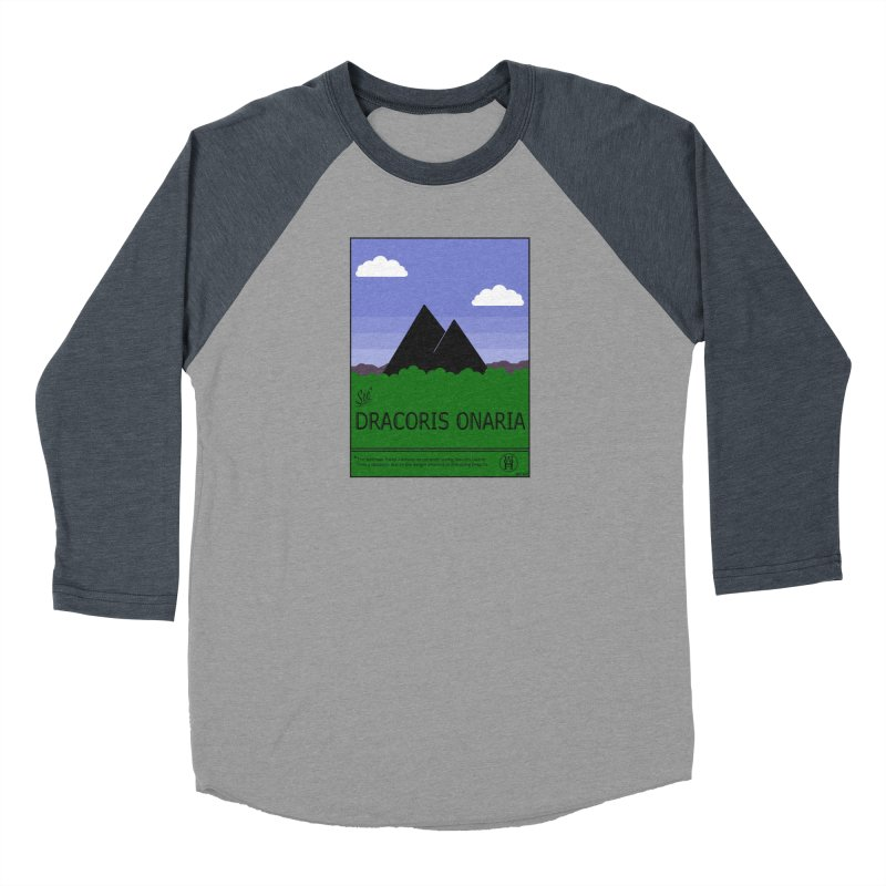 Travel Poster: Dracoris Onaria Men's Baseball Triblend Longsleeve T-Shirt by wchwriter's Artist Shop