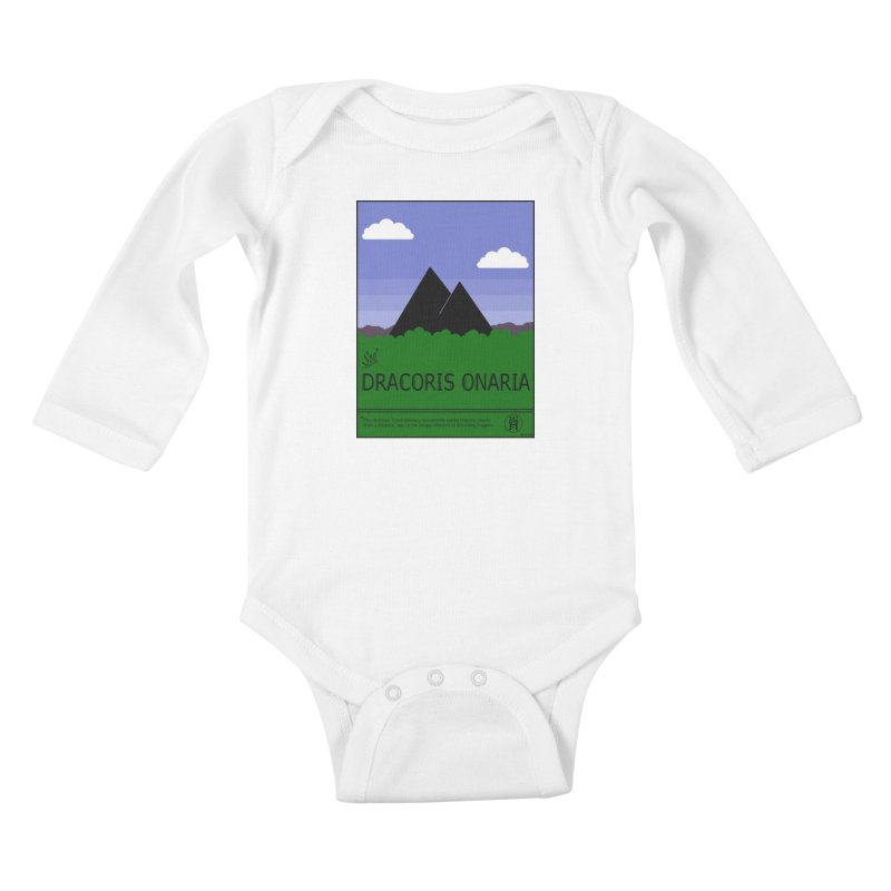 Travel Poster: Dracoris Onaria Kids Baby Longsleeve Bodysuit by wchwriter's Artist Shop