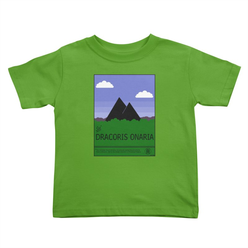 Travel Poster: Dracoris Onaria Kids Toddler T-Shirt by wchwriter's Artist Shop