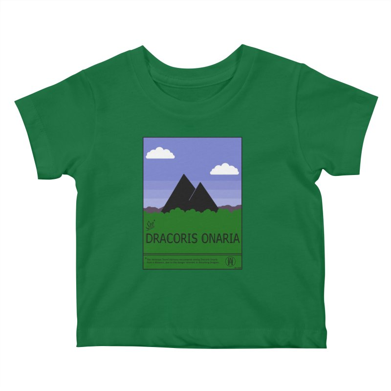 Travel Poster: Dracoris Onaria Kids Baby T-Shirt by wchwriter's Artist Shop