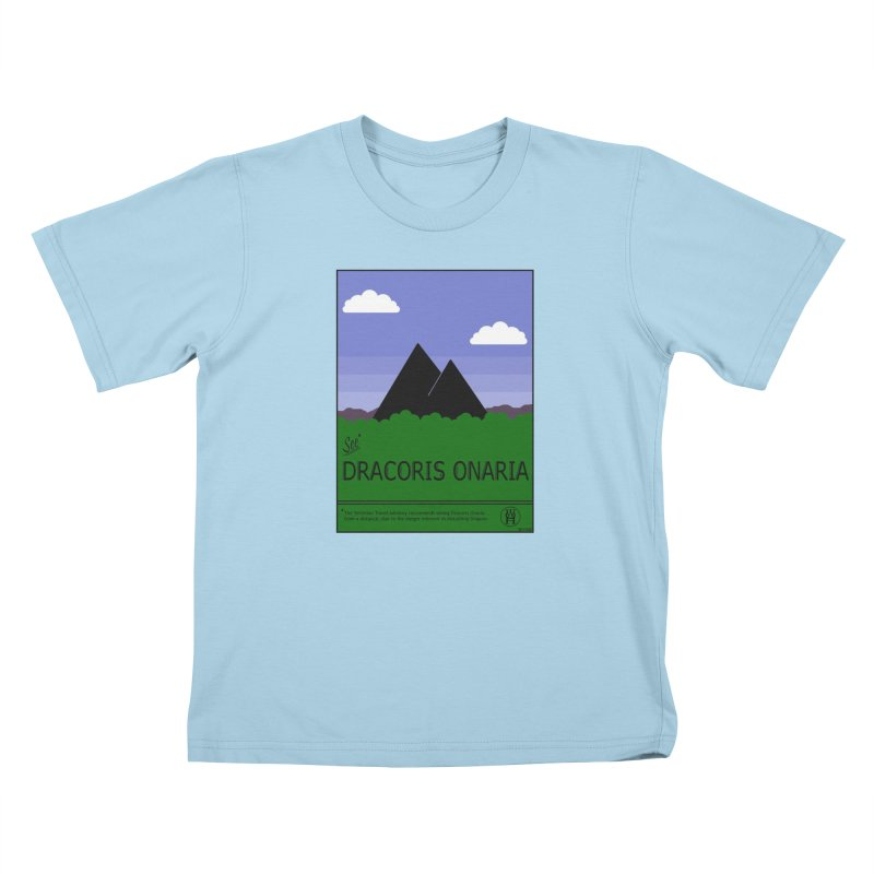 Travel Poster: Dracoris Onaria Kids T-Shirt by wchwriter's Artist Shop