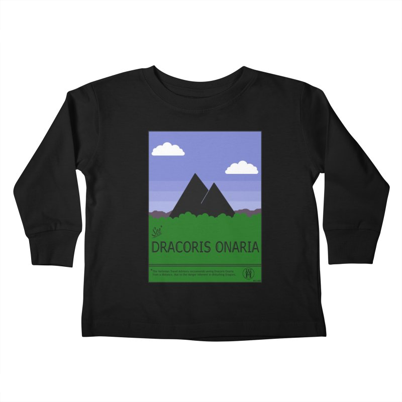 Travel Poster: Dracoris Onaria Kids Toddler Longsleeve T-Shirt by wchwriter's Artist Shop