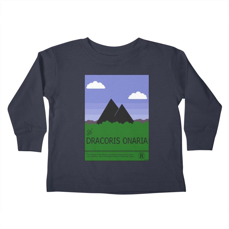 Travel Poster: Dracoris Onaria Kids Toddler Longsleeve T-Shirt by wchwriter's Artist Shop