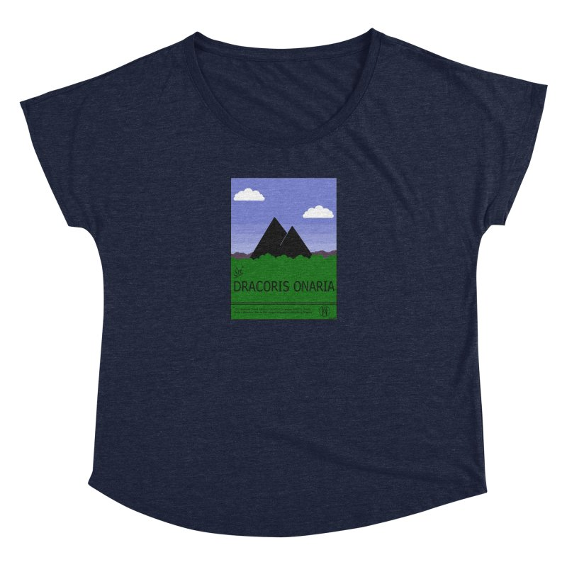 Travel Poster: Dracoris Onaria Women's Dolman Scoop Neck by wchwriter's Artist Shop