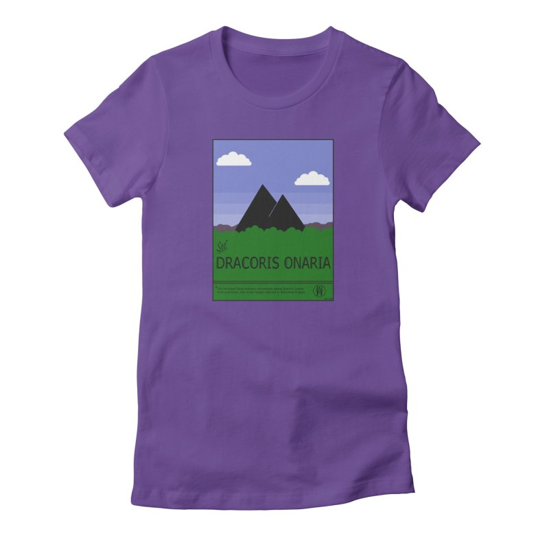 Travel Poster: Dracoris Onaria Women's Fitted T-Shirt by wchwriter's Artist Shop