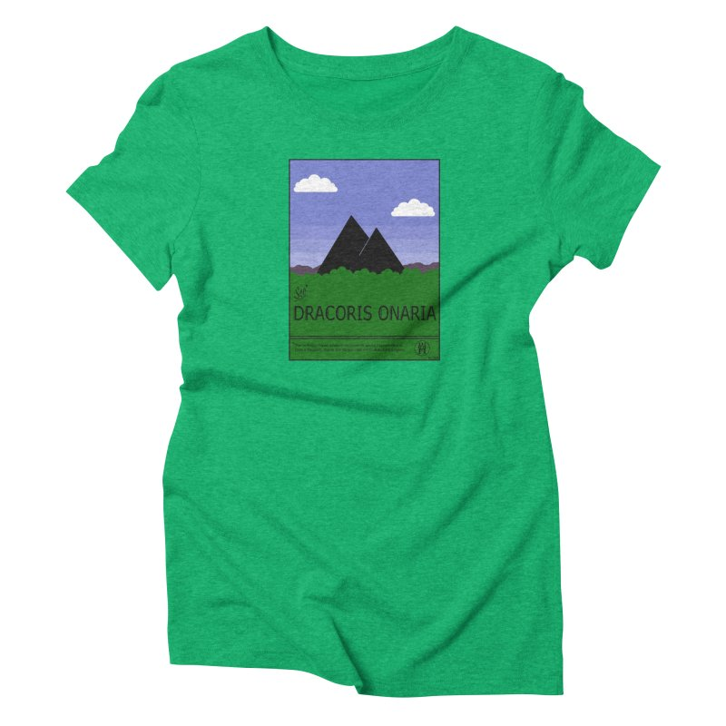 Travel Poster: Dracoris Onaria Women's Triblend T-Shirt by wchwriter's Artist Shop
