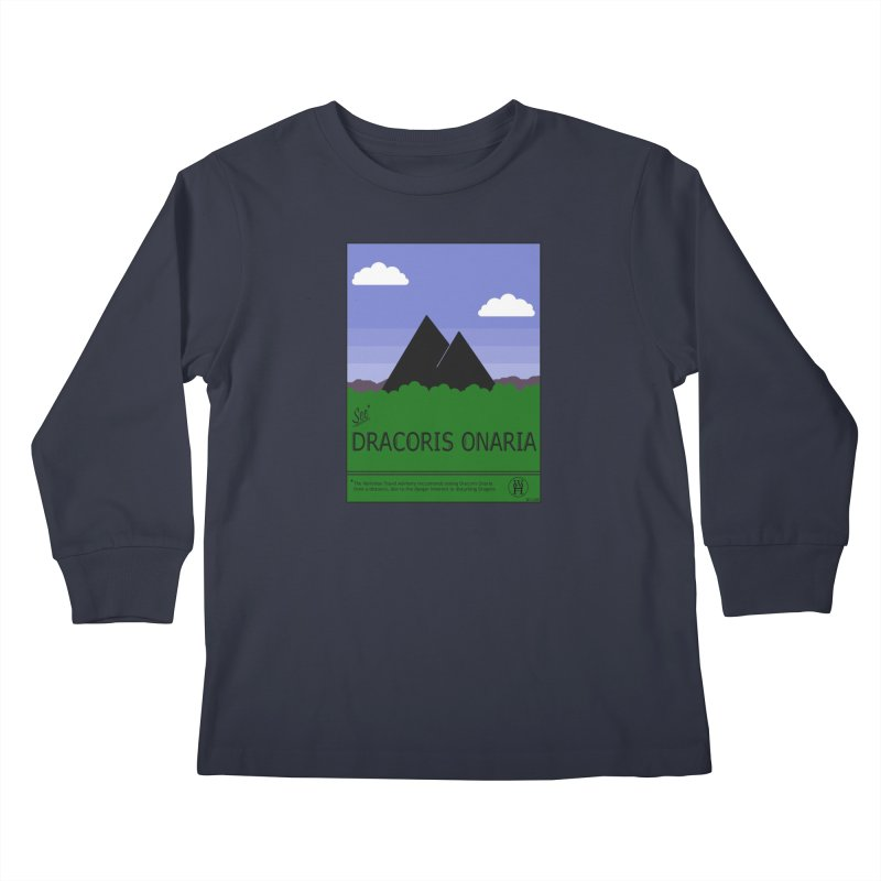 Travel Poster: Dracoris Onaria Kids Longsleeve T-Shirt by wchwriter's Artist Shop