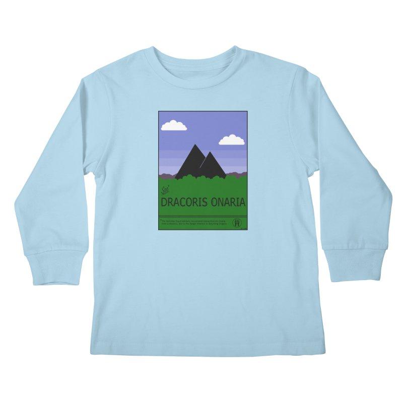 Travel Poster: Dracoris Onaria Kids Longsleeve T-Shirt by wchwriter's Artist Shop