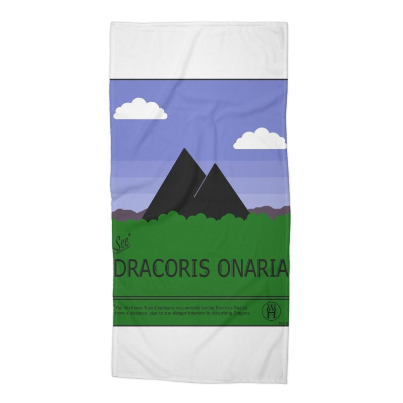 Travel Poster: Dracoris Onaria Accessories Beach Towel by wchwriter's Artist Shop