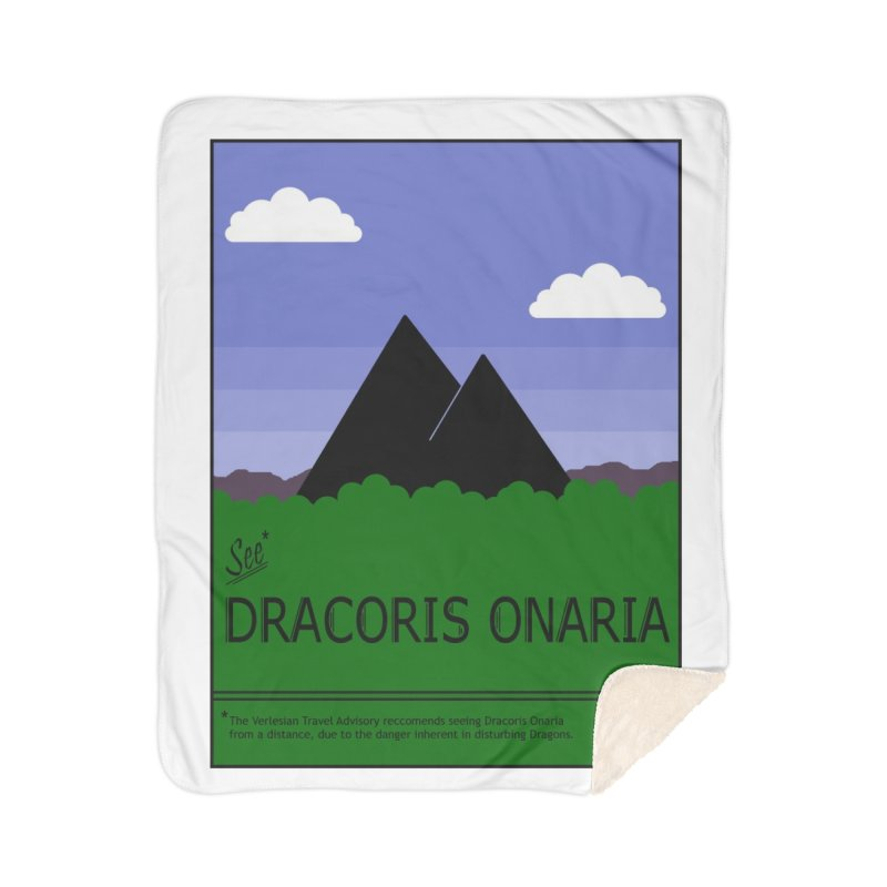 Travel Poster: Dracoris Onaria Home Sherpa Blanket Blanket by wchwriter's Artist Shop