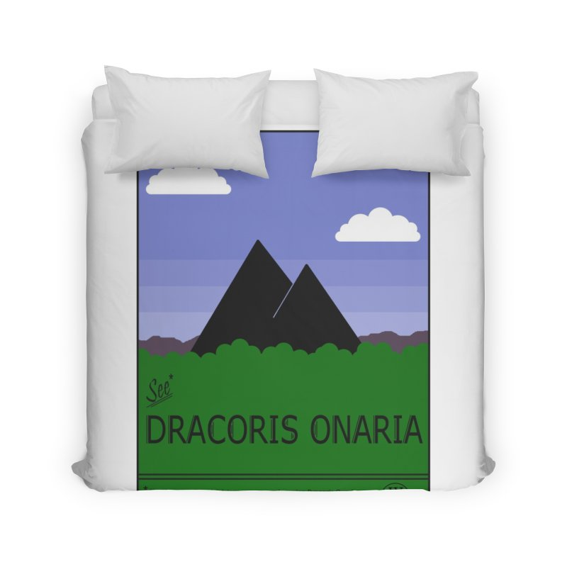 Travel Poster: Dracoris Onaria Home Duvet by wchwriter's Artist Shop