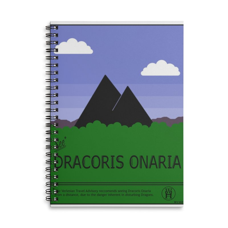 Travel Poster: Dracoris Onaria Accessories Lined Spiral Notebook by wchwriter's Artist Shop