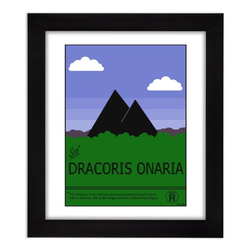 Travel Poster: Dracoris Onaria Home Framed Fine Art Print by wchwriter's Artist Shop
