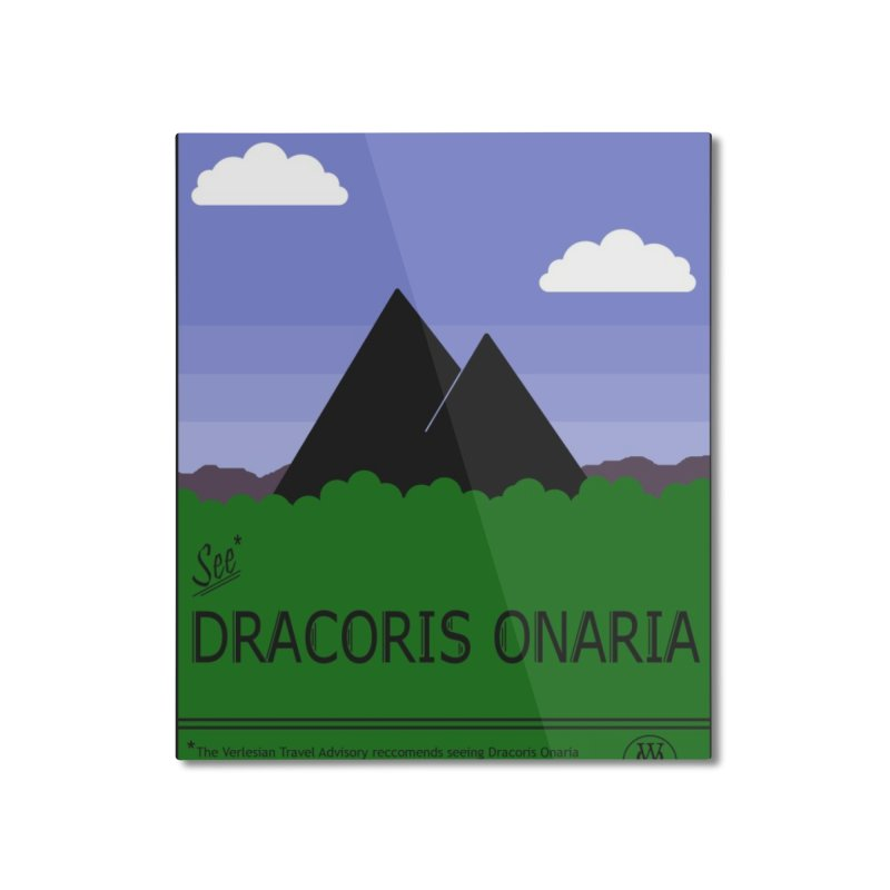 Travel Poster: Dracoris Onaria Home Mounted Aluminum Print by wchwriter's Artist Shop