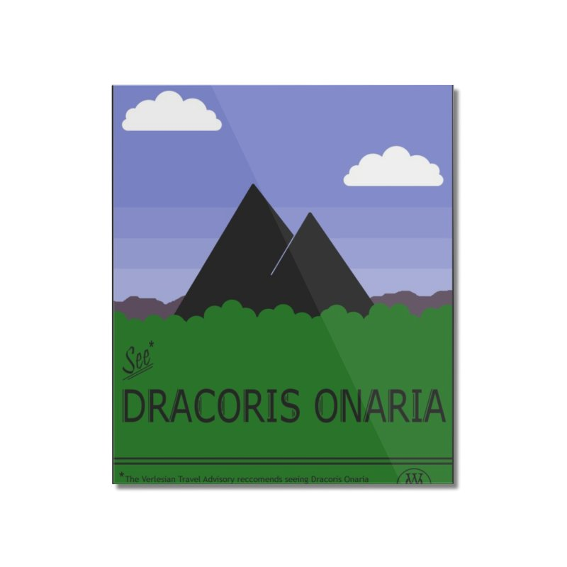 Travel Poster: Dracoris Onaria Home Mounted Acrylic Print by wchwriter's Artist Shop