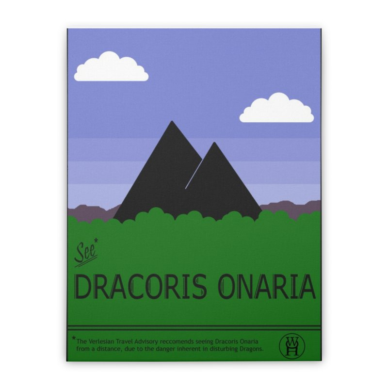 Travel Poster: Dracoris Onaria Home Stretched Canvas by wchwriter's Artist Shop