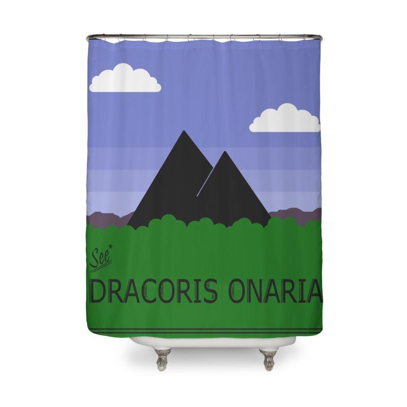Travel Poster: Dracoris Onaria Home Shower Curtain by wchwriter's Artist Shop