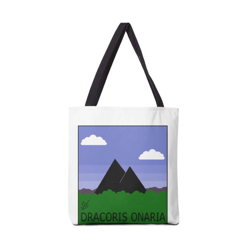Travel Poster: Dracoris Onaria Accessories Tote Bag Bag by wchwriter's Artist Shop