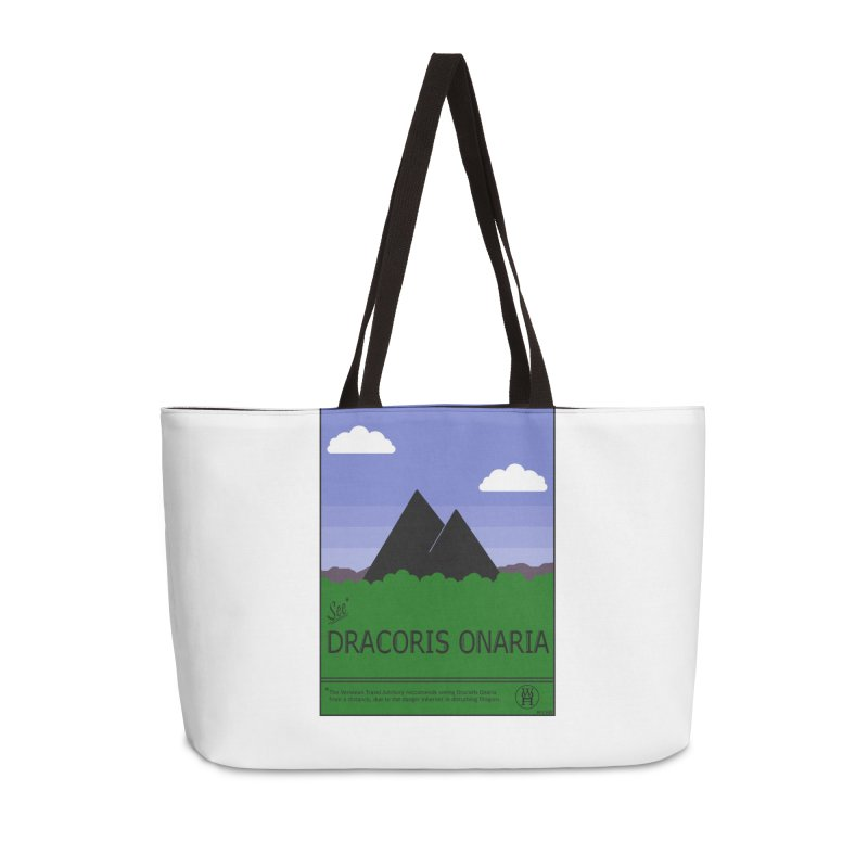 Travel Poster: Dracoris Onaria Accessories Weekender Bag Bag by wchwriter's Artist Shop
