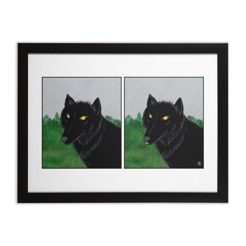 Blep Home Framed Fine Art Print by wchwriter's Artist Shop