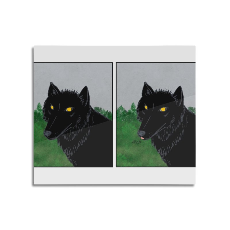 Blep Home Mounted Aluminum Print by wchwriter's Artist Shop