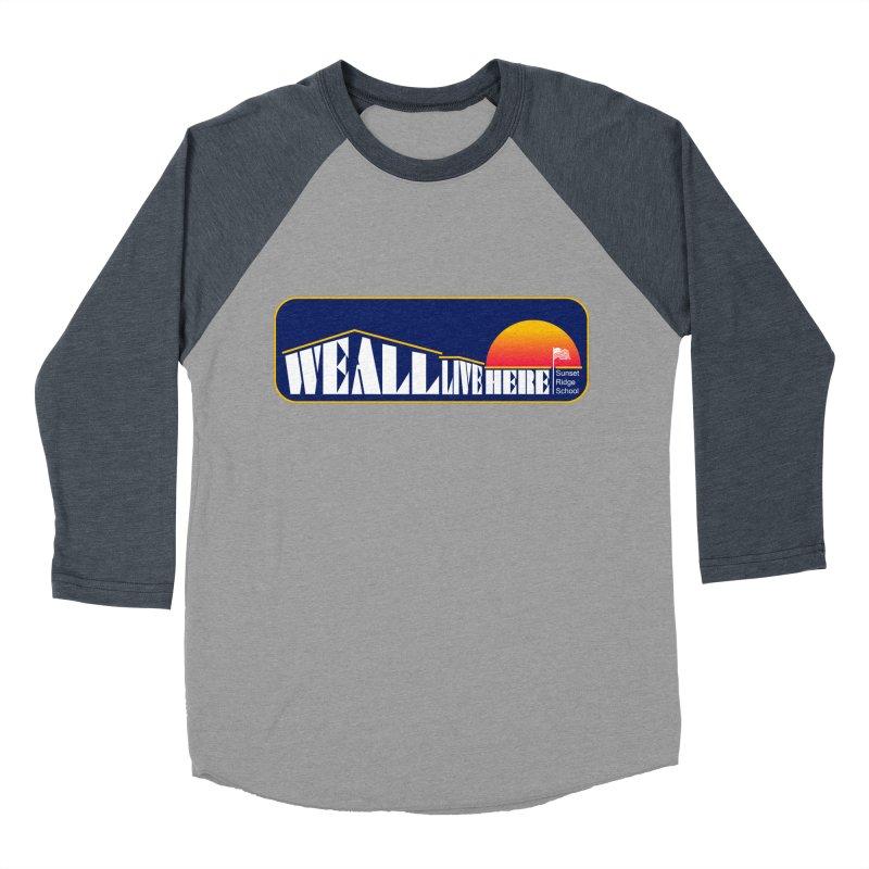 WALH Sunset Ridge Men's Baseball Triblend Longsleeve T-Shirt by we all live here
