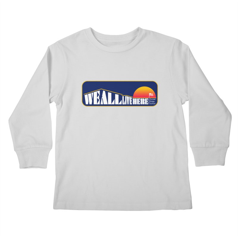 WALH Sunset Ridge Kids Longsleeve T-Shirt by we all live here