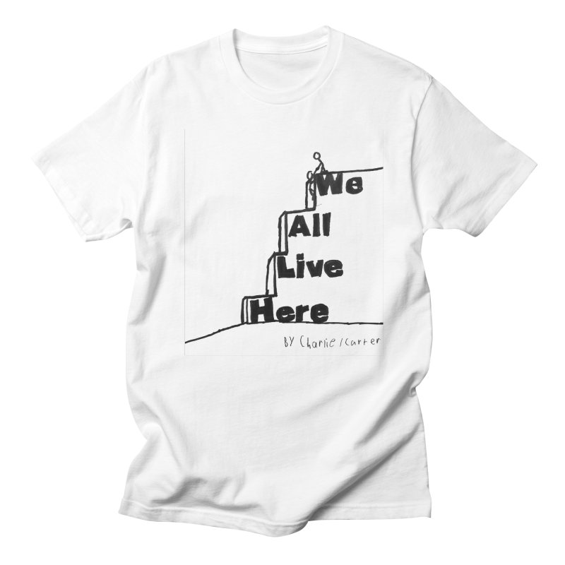 Charlie Carter Design White Men's Regular T-Shirt by we all live here