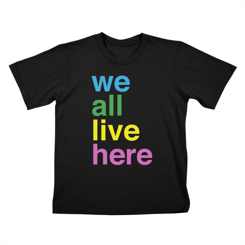 Stacked Light Kids T-Shirt by we all live here