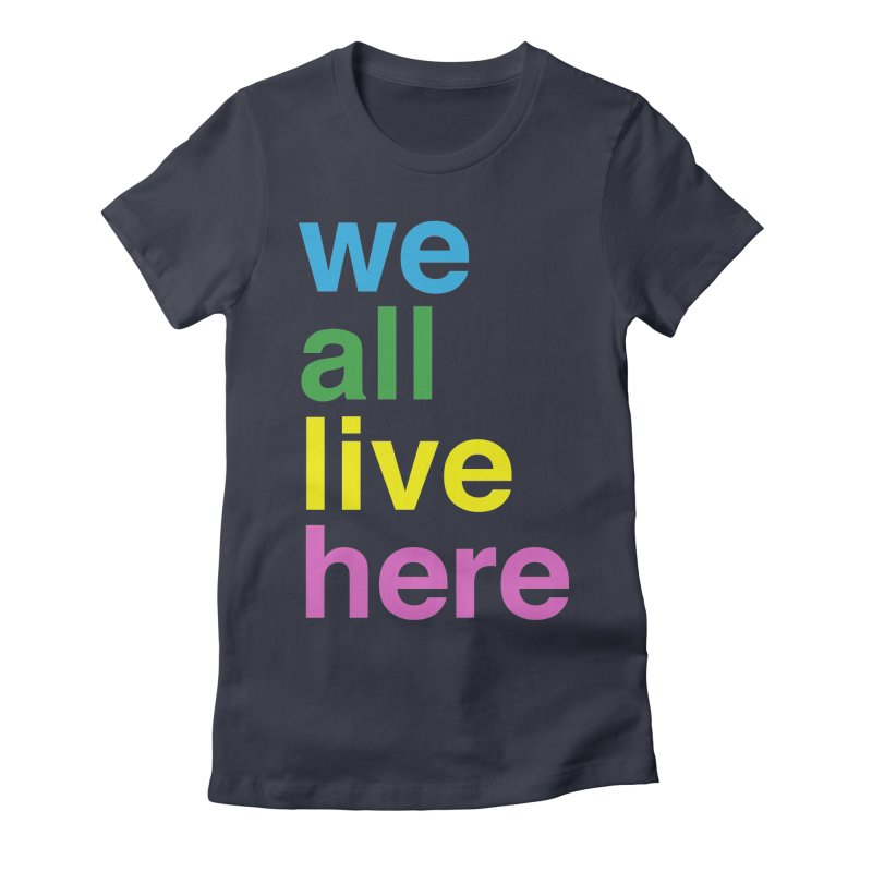 Stacked Light Women's Fitted T-Shirt by we all live here