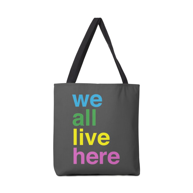 Stacked Light Accessories Tote Bag Bag by we all live here