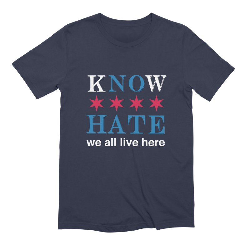Know No Hate Men's Extra Soft T-Shirt by we all live here