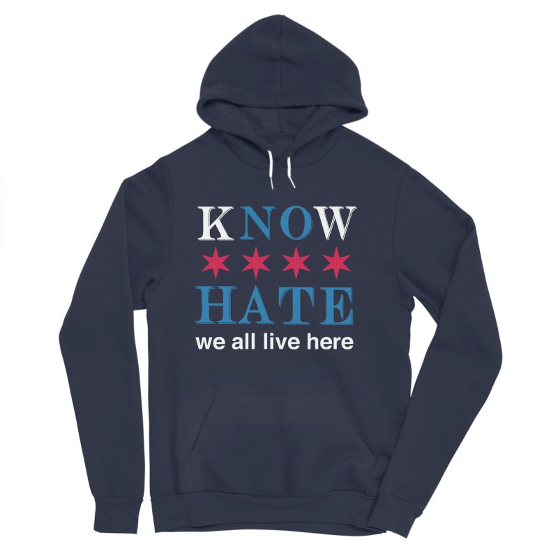 Know No Hate Men's Sponge Fleece Pullover Hoody by we all live here