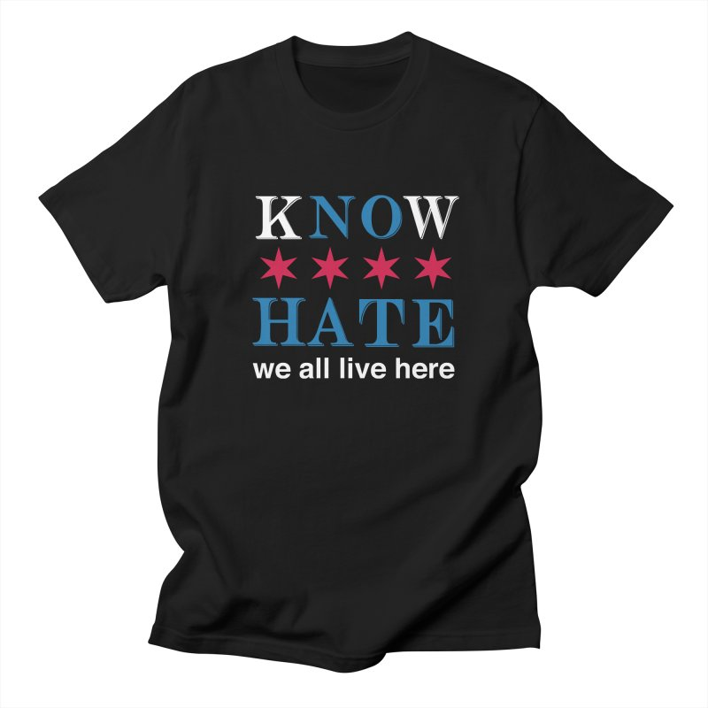 Know No Hate Men's Regular T-Shirt by we all live here