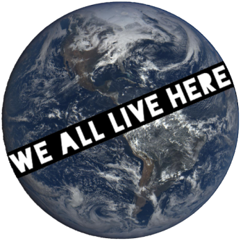 we all live here Logo