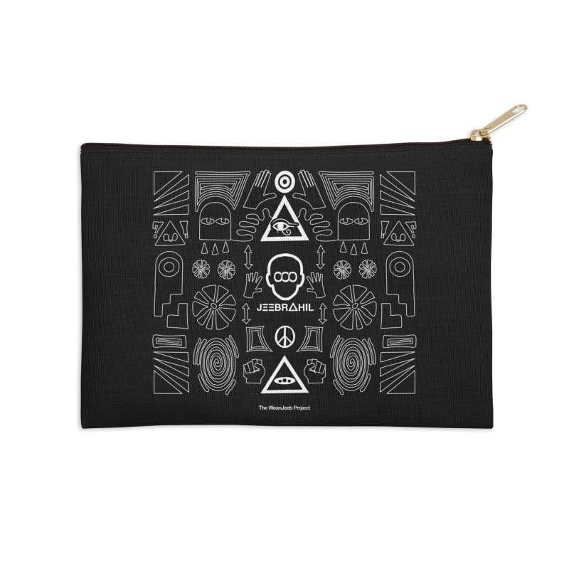 Squared x organised Accessories Zip Pouch by WeandJeeb's Artist Shop