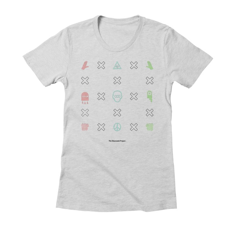 Dispose x multiply (clr-b) Women's Fitted T-Shirt by WeandJeeb's Artist Shop