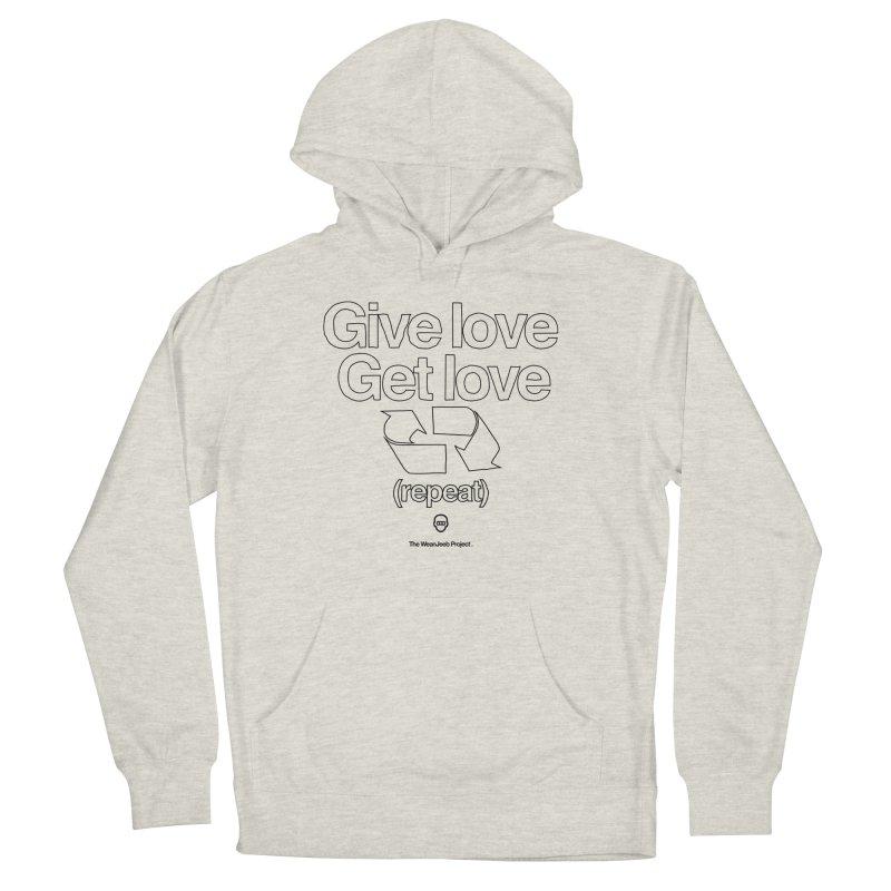 Give Love Get Love (bow) Men's Pullover Hoody by WeandJeeb's Artist Shop
