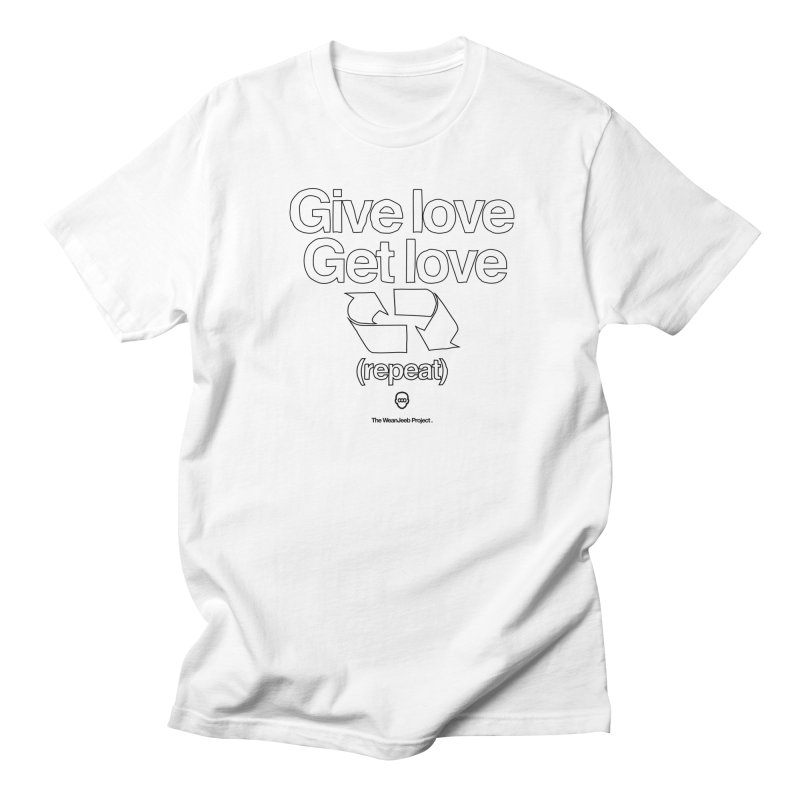 Give Love Get Love (bow) Men's T-Shirt by WeandJeeb's Artist Shop