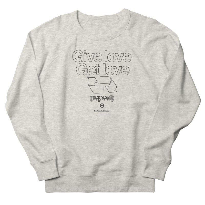 Give Love Get Love (bow) Men's Sweatshirt by WeandJeeb's Artist Shop